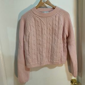 Carven Long Sleeve Sweater in 354 Rose Pale